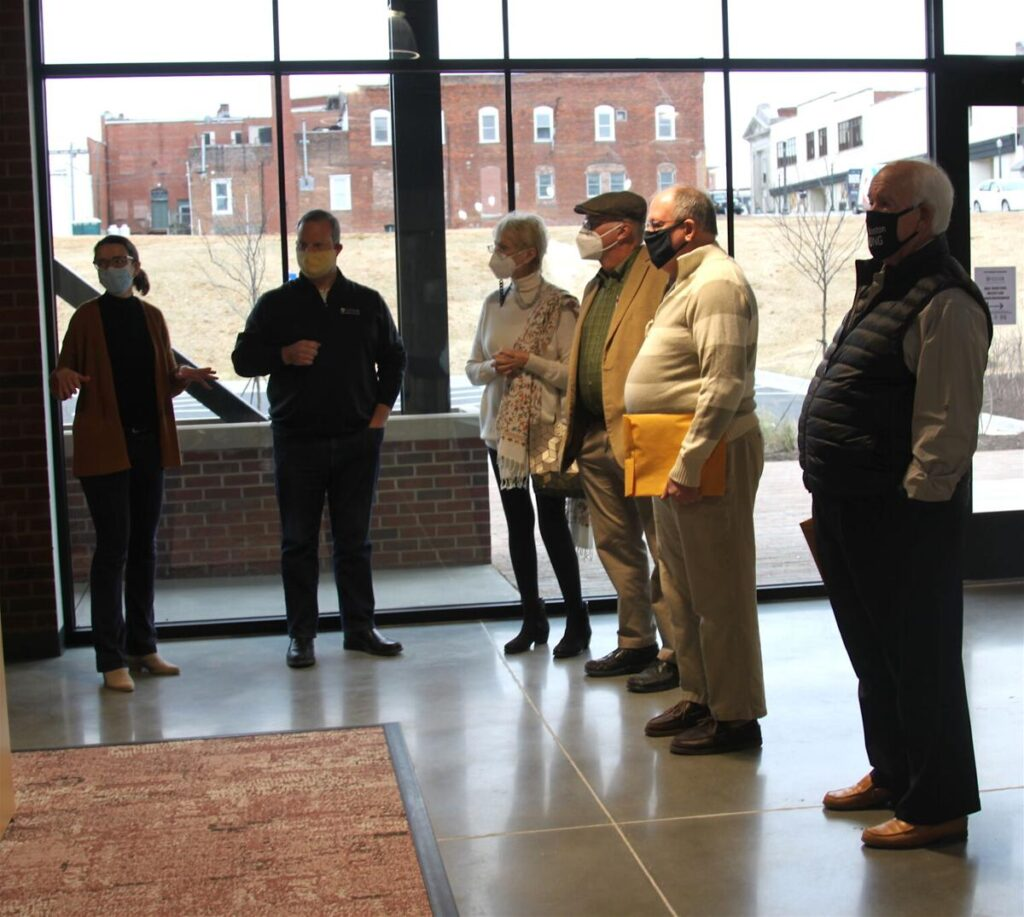 group of people in the SOVA Innovation Hub